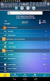 dubai airport + flight tracker