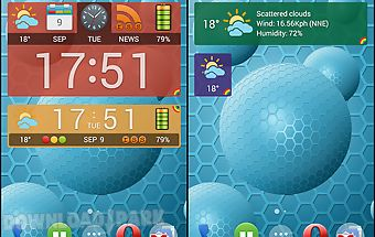 Weather and news info widget