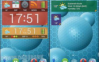 Weather and news info widget