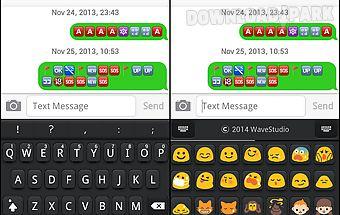 Emoji keyboard+ black theme