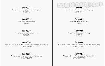 Fonts for flipfont 3