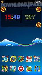 next launcher theme colorful