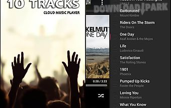 10 tracks: cloud music player