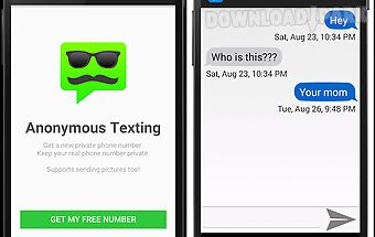 Anonymous texting