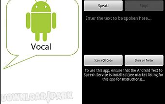 Vocal - free text to speech