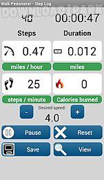 walk pedometer - step log