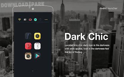 dark chic line launcher theme
