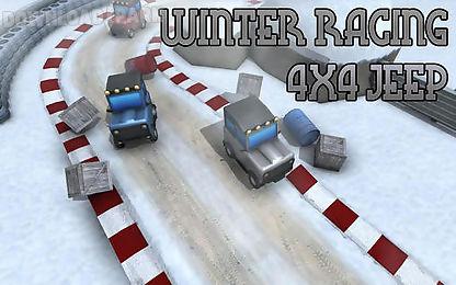 winter racing: 4x4 jeep