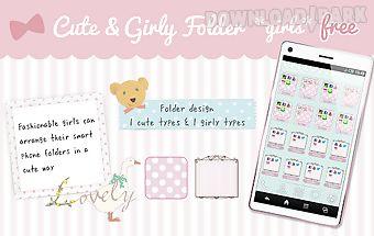 Cute&girly folder *girls* free