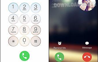 I call screen dialer 6s theme