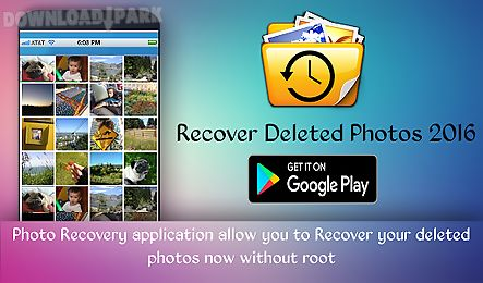 Recover deleted photos free Android App free download in Apk