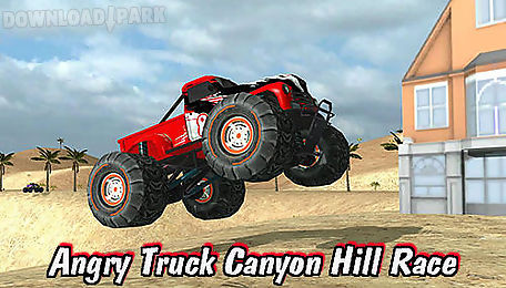 angry truck canyon hill race