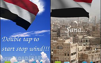 3d yemen flag live wallpaper