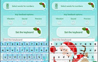 Christmas keyboard theme