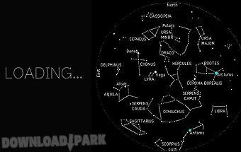 Constellation star night sky