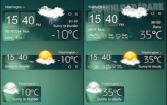 Atrovirens theme go weather ex