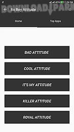 boy attitude status