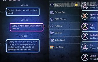 Neon theme go sms proex