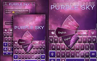 Purple sky go keyboard theme