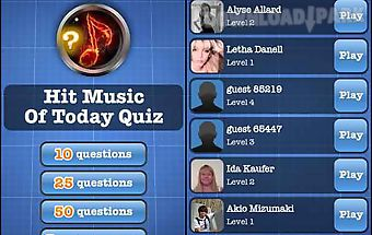 Hit music of today quiz free