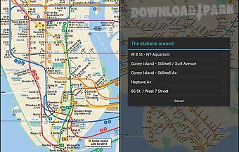 New york subway map and line sta..
