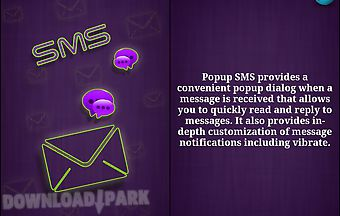 Popup sms lavender version