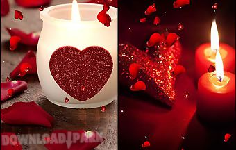 Valentines day: candles