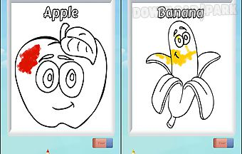 Kids color fruits