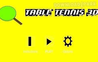 Table tennis3d