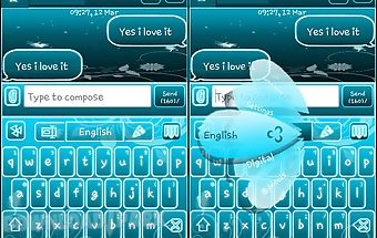 Go keyboard fairy blue