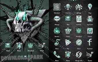 Hell skull go launcher theme