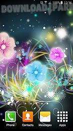 neon flower live wallpaper
