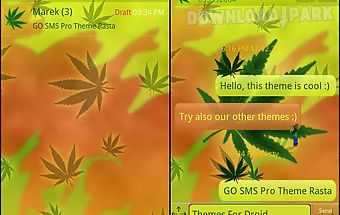 Theme rasta for go sms pro