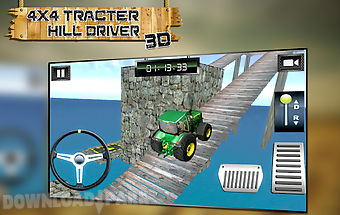 4x4 tractor hill driver 3d