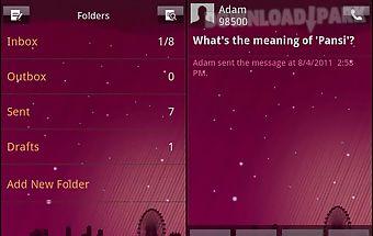 Easy sms purplenight theme