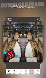 insta square mirror snap photo