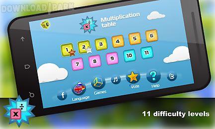 math.multiplication table free