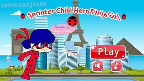 sprinter chibi hero ninja girl