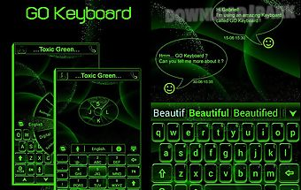 Toxic green go keyboard theme