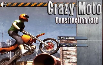 Crazy moto construction racing