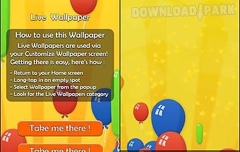 Party balloons live 3d wallpaper