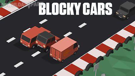 blocky cars: traffic rush