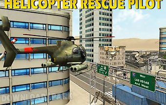 Helicopter rescue pilot 3d