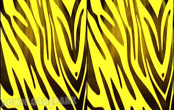 Yellow zebra print live wallpape..