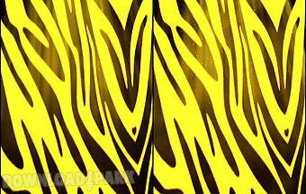 Yellow zebra print live wallpape..