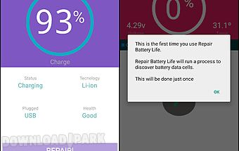 Advanced repair battery life