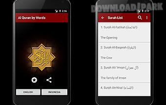 Al quran by word translation