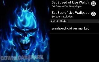 Blue skull live wallpaper