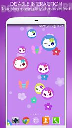 lily kitty fun live wallpaper