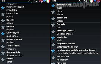Offline english italian dict.